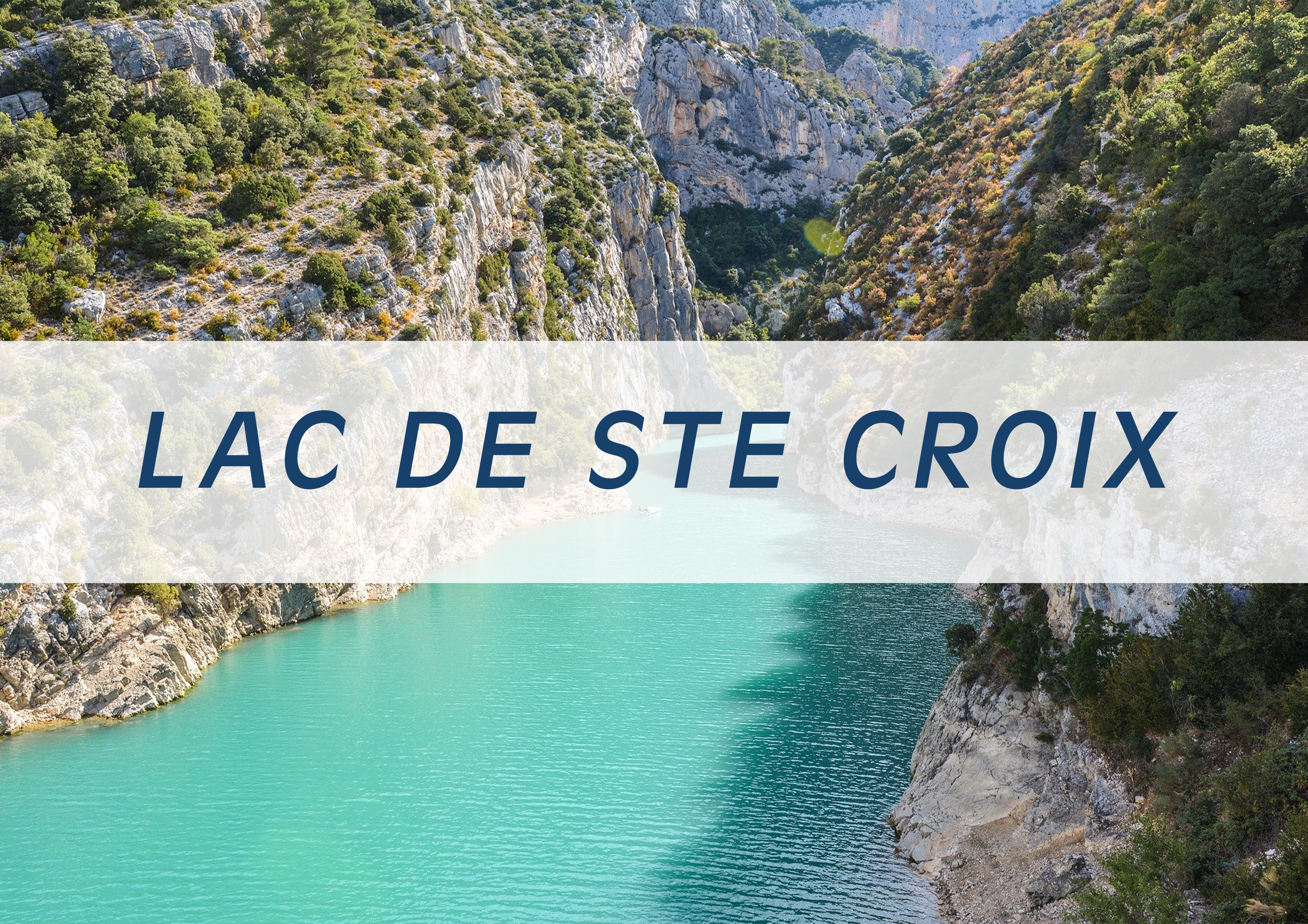 Overview of Lac de Sainte Croix - Heli Land & Sea - Heli Air Monaco