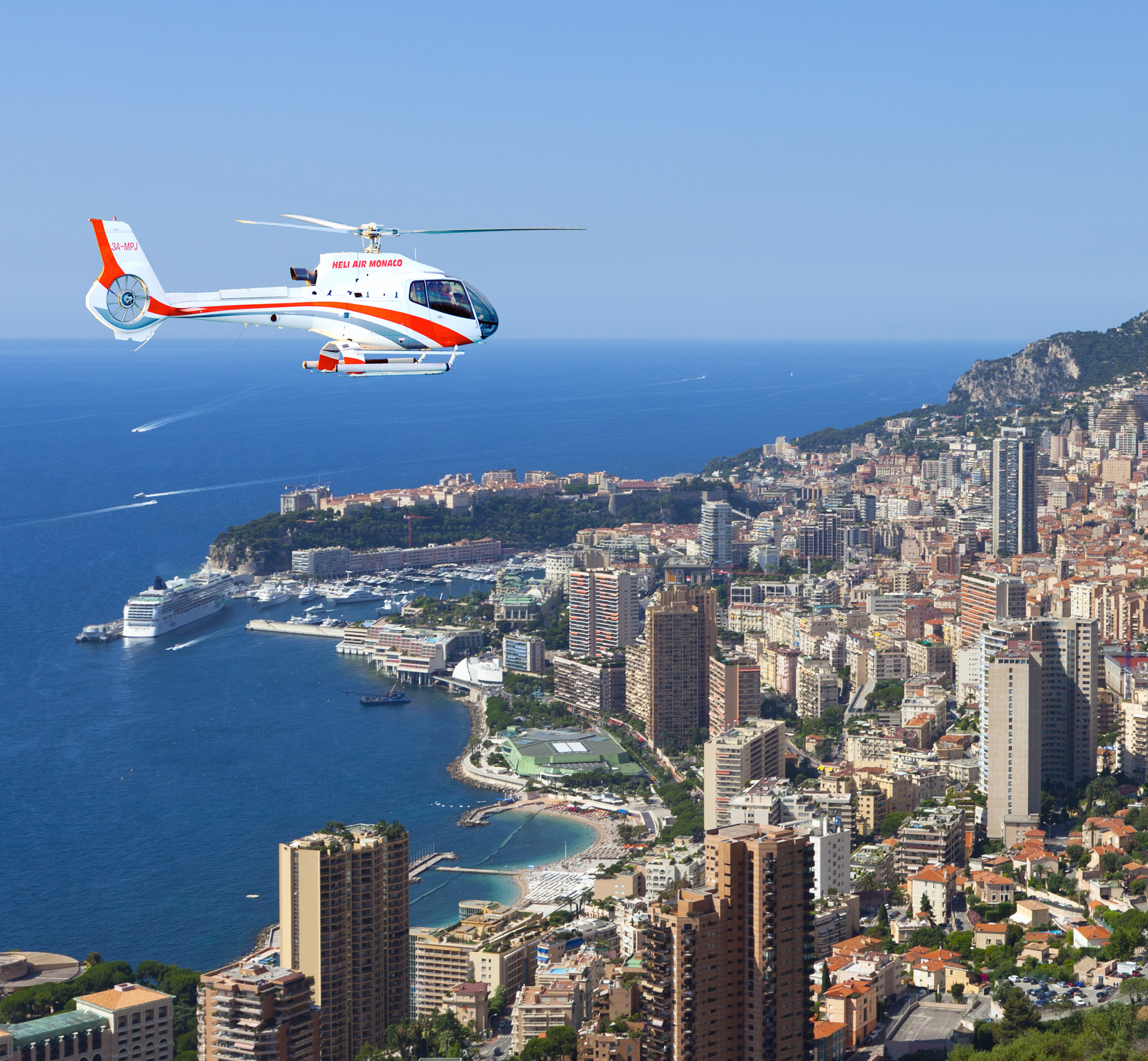 Helicopter tour at 45€ per person Heli Air Monaco
